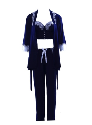 Navy Blue - Morning Robe