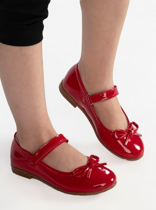 Red - Flat - Girls` Flat Shoes