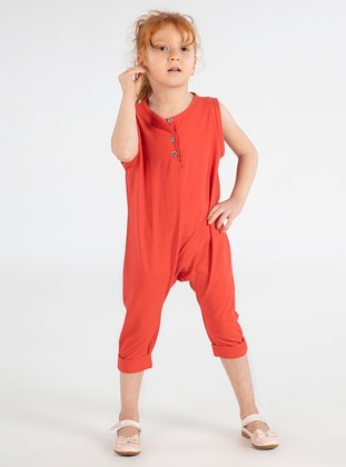 Coral - Crew neck -  - Girls` Salopettes & Jumpsuits