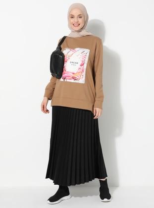 Brown - Black - Unlined -  - Suit