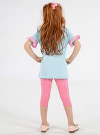 Crew neck -  - Multi - Blue - Pink - Girls` Suit