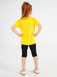 Crew neck -  - Multi - Pink - Yellow - Girls` Suit