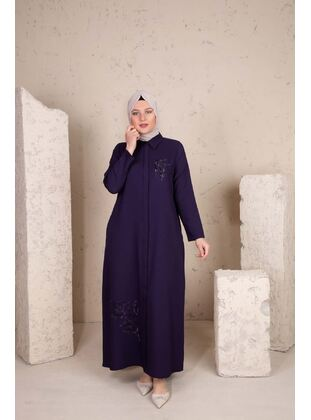 Multi - Plus Size Evening Abaya - BEHREM