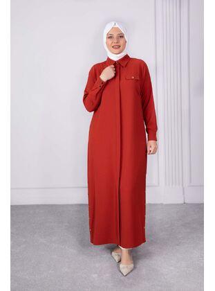 Terra Cotta - Plus Size Evening Abaya