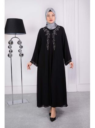Black - Muslim Plus Size Evening Dress