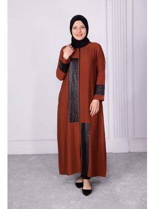 Tan - Plus Size Evening Abaya