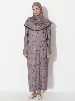 Mink - Floral - Unlined - Prayer Clothes