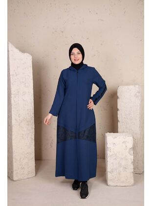 Indigo - Plus Size Evening Abaya - BEHREM