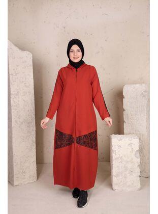 Terra Cotta - Plus Size Evening Abaya - BEHREM