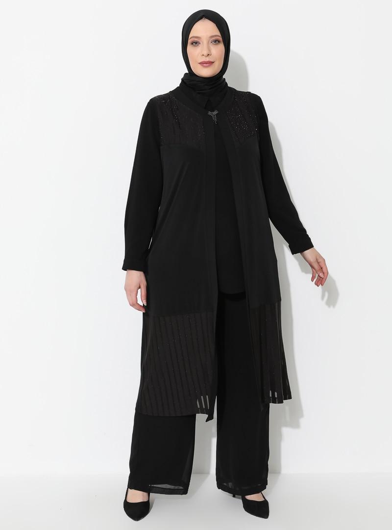 Plus Size Vest Ferace Black