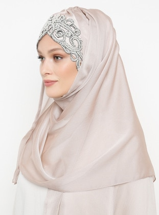 Pink - Powder - Plain -  - Instant Scarf