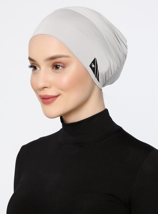 Gray - Plain - Simple - Bonnet