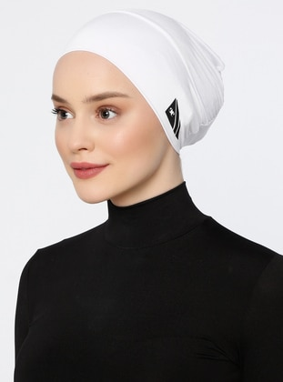 White - Ecru - Plain - Simple - Bonnet