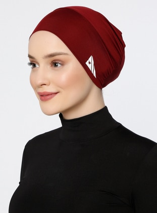 Maroon - Plain - Simple - Bonnet