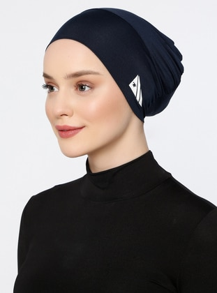 Navy Blue - Plain - Simple - Bonnet - Ecardin