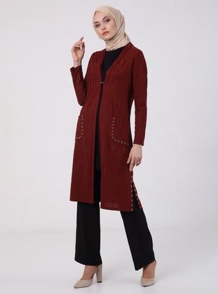 Terra Cotta - Unlined - V neck Collar - Jacket