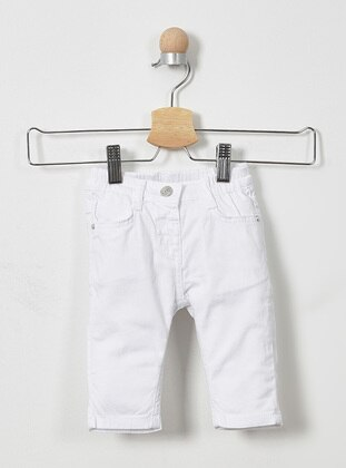 - White - Baby Pants