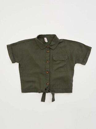 Khaki - Girls` Shirt