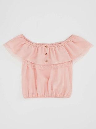 Pink - Girls` Blouse