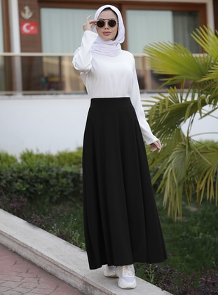 Black - Unlined - Skirt - Neways