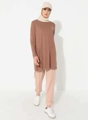 Cinnamon - Crew neck - Viscose - Tunic