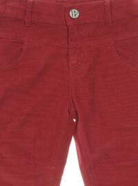 - Maroon - Boys` Pants