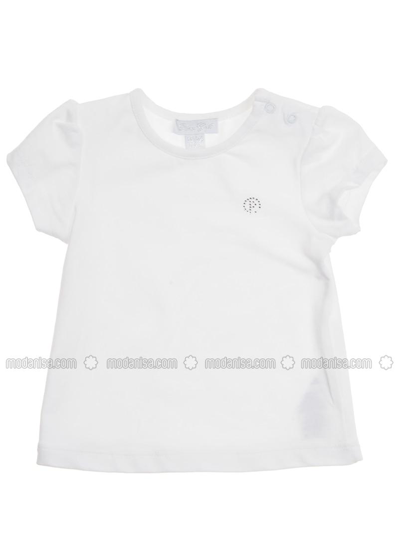 Crew neck - - White - Baby Body