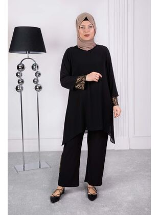 Black - Plus Size Evening Suit