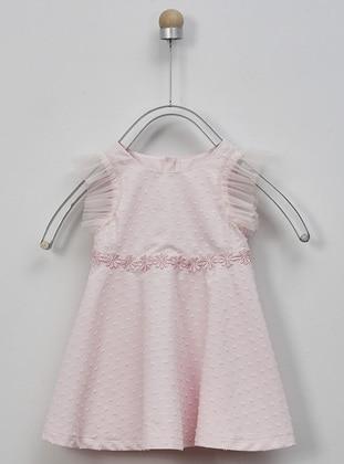 Crew neck - - Pink - Baby Dress