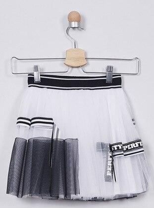 White - Girls` Skirt - Panço