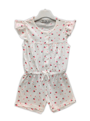 White - Multi - Multi - Crew neck -  - Girls` Salopettes & Jumpsuits