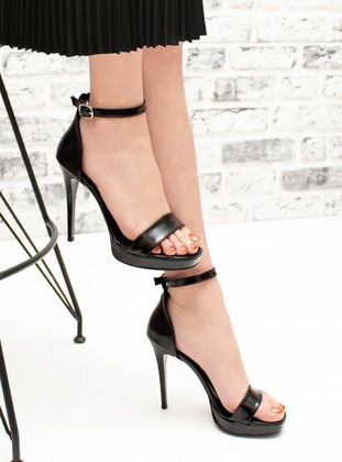 Black - High Heel - Evening Shoes - Snox