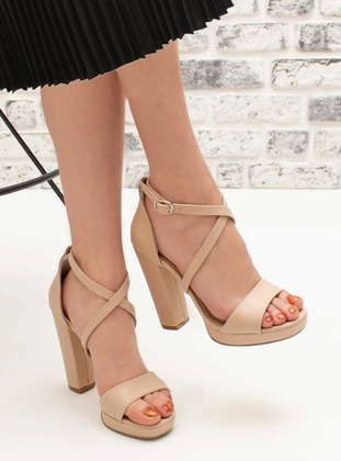 Nude - High Heel - Evening Shoes