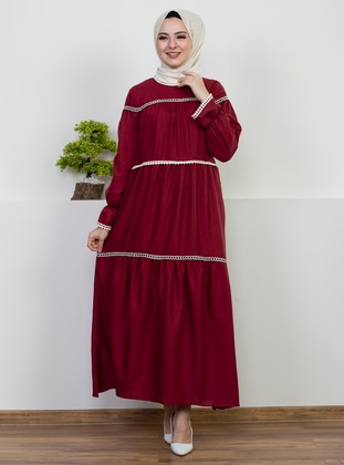 Maroon -  - Dress