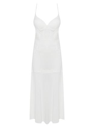 Ecru - Modal - Combed Cotton - Nightdress