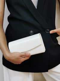 Cream - Satchel - Clutch - Clutch Bags / Handbags