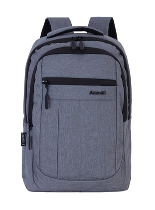 Gray - Backpack - School Bags - GNC DESIGN