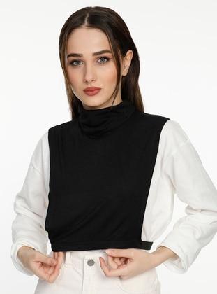 Black - Combed Cotton - Neckcover