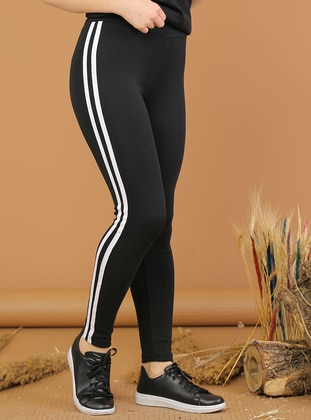White - Black -  - Gym Leggings