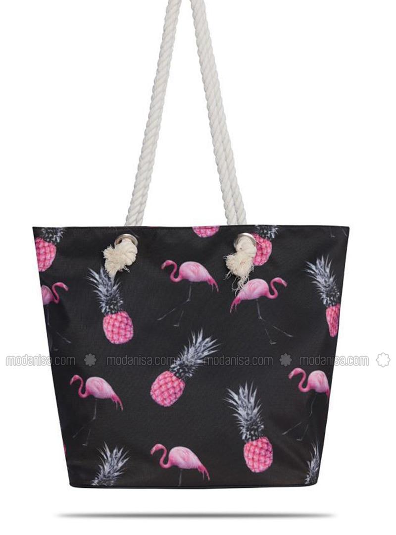 Satchel - Black - Beach Bags