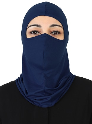 Navy Blue - Simple - Combed Cotton - Bonnet