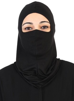Black - Simple - Combed Cotton - Bonnet