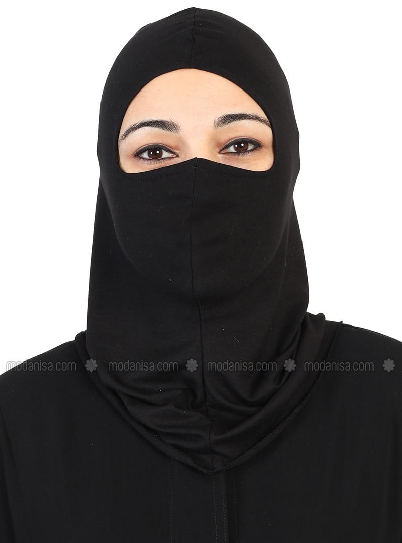 Black - Simple - Combed Cotton - Bonnet