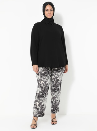 Gray - Plus Size Pants