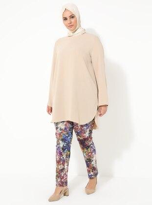 Saxe - Floral - Plus Size Pants
