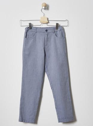 Stripe - - Unlined - Blue - Boys` Pants