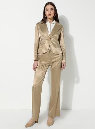 Camel - Stripe - Suit