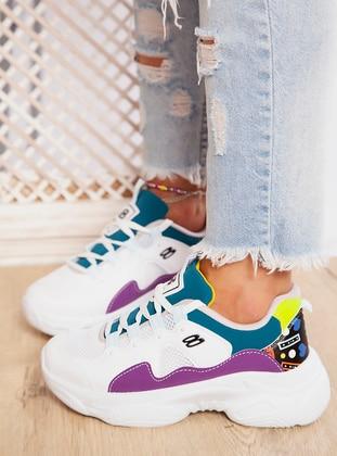White - Purple - Petrol - Sport - Sports Shoes