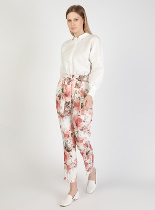 Dusty Rose - Floral - Pants