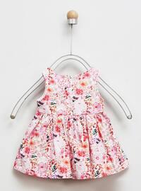 Multi - Crew neck - - Pink - Baby Dress